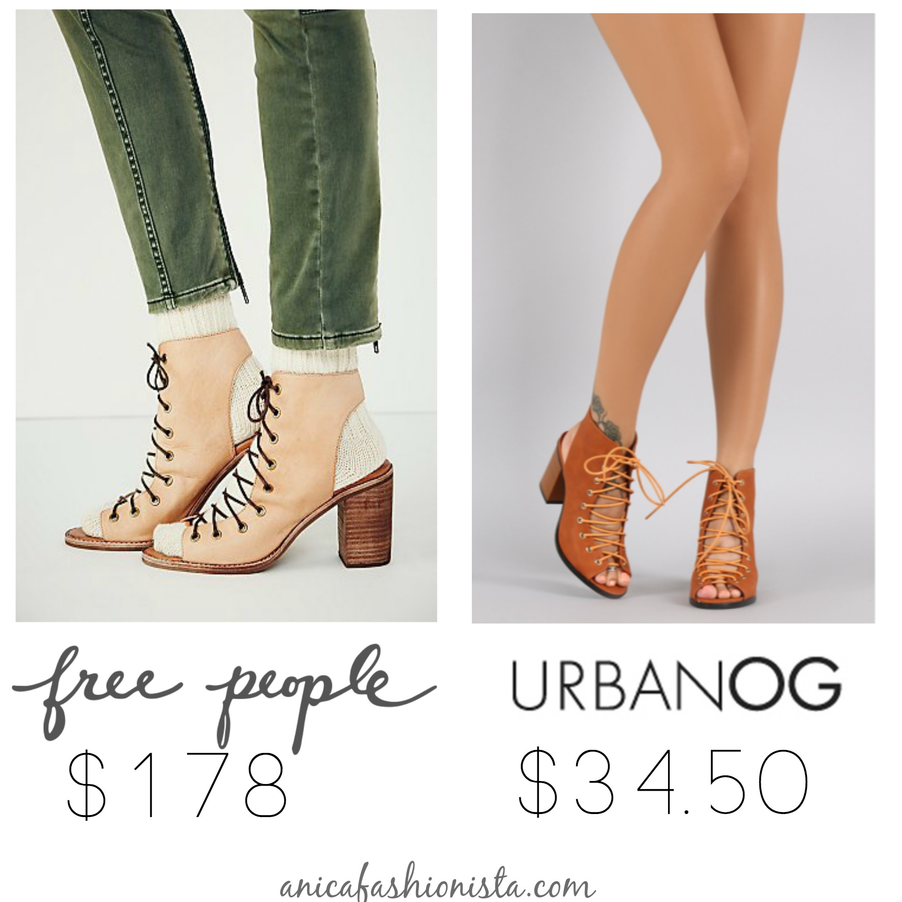 DUPES for Free People Shoes under $50 | anicafashionista