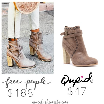 qupid free people bootie dupe